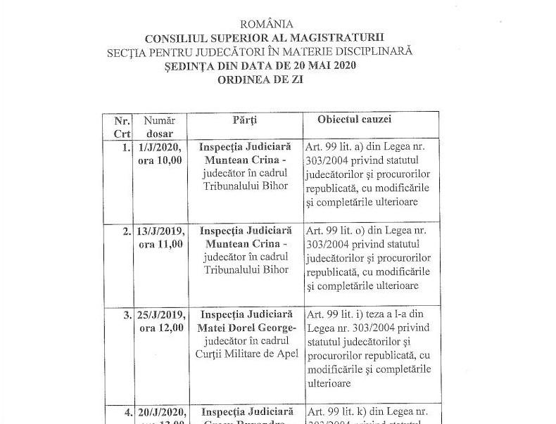 3 adversari ai Liei Savonea, în fața Secției pentru judecători a CSM