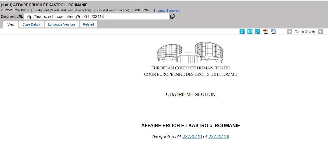 Romania a câștigat la CEDO procesul contra unor deținuți evrei, nemulțumiți de mâncarea kosher pe care o primeau