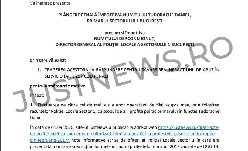 DOCUMENTE / Europarlamentarul Clotilde Armand a depus plângere penală la DNA, după dezvăluirile Justnews privind monitorizarea sa în timpul protestelor anti-corupție din 2017