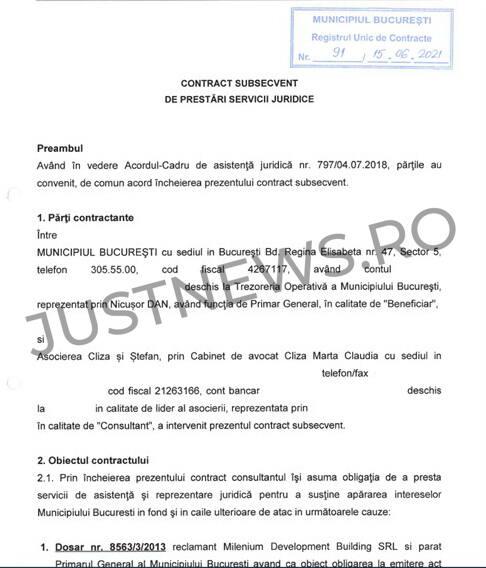 Asocierea Cliza-Ştefan apără Primăria Capitalei în 15 dosare importante, cu mize totalizând zeci de milioane de euro