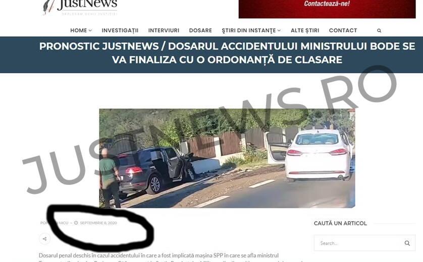 Pronostic confirmat / Justnews a anticipat că dosarul accidentului ministrului Bode de pe Valea Oltului va fi clasat de procurorii militari